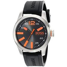 Men's Silicone/Rubber Band Analogue Casual Wristwatches