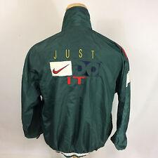 Vintage Nike 80s 90s Gray Tag Windbreaker Jacket Just Do It Running Track XL