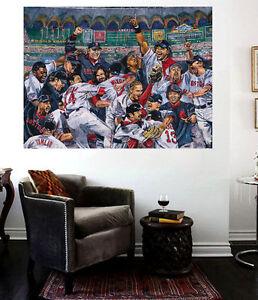 Red Sox 2004 Champions Wall Canvas Art 24 x 32 Print Boston Red Sox Papi Manny