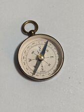 New ListingAntique Germany Maritime Brass Ground Glass Hand-Held Pendant Pocket Compass