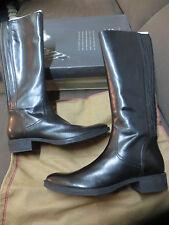 GEOX stivali Mendi pelle nero nuove valore 199E Taglia 36