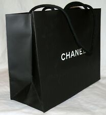 Chanel Medium Size Matte Black Shopping Bag Tote Gift or Storage 12x9.5x5