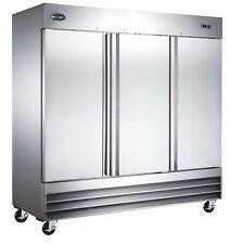 SABA Heavy Duty 3 Door Commercial Reach In Freezer in Stainless Steel)