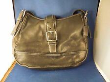 Vintage Coach Purse Black Leather Handbag D26-7583 Retro 70s Style Trend