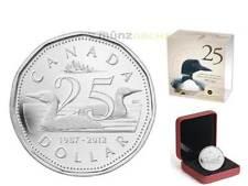 1 $Dólar 25th Anniversary LOONIE CANADÁ Canadá 2012 plata plata