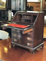 Salesman Sample Miniature Bureau. Make Great Table Stationary Box.