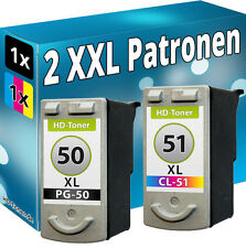 XXL Set di cartucce inchiostro per Canon pg50+cl51 Pixma mp450 mp460 mx300 mx310 ip2200