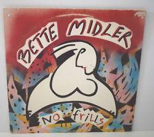 BETTE MIDLER NO FRILLS Disque VINYLE 33 Tours Atlantic 80070-1 1983 USA