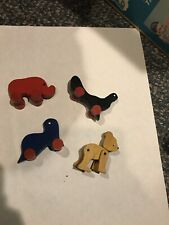 Vintage Wood Toys. Bear With Movable Limbs.