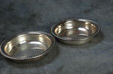 """Webster Wilcox International Silver Co, 2 Silverplate Bowls 6"""" Matching 76P"""
