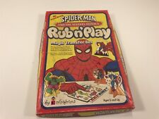 Spider-Man And The Marvel Heroes Rub n' Play Magic Transfer Set 1978