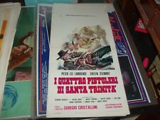 I QUATTRO PISTOLERI DI SANTA TRINITA' locandina originale 1971 G. CRISTALLINI
