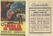 Cinema programme. Film title: fire in the blood.