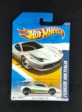Hot Wheels White FERRARI 458 ITALIA All Stars 12 #10/10 Diecast Car