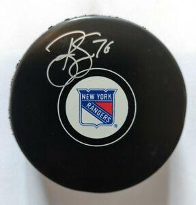 Brady Skjei Signed New York Rangers Logo Hockey Puck Fanatics & Steiner Hologram