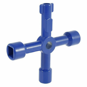 4 WAY UTILITY UTILITIES BOX KEY WATER ELECTRIC GAS METER METERS CABINET