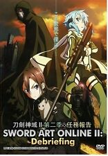 SWORD ART ONLINE II : DEBRIEFING ANIME DVD FREE SHIPPING