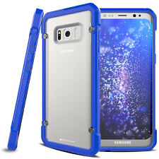 Samsung Galaxy S8 Plus Fusion Armour Premium Slim Hybrid Protective Case Cover Blue/frost