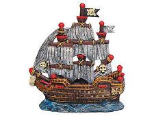 Pirate Ship with Sails Boat Shipwreck Aquarium Ornament Fish Tank Decoration