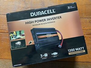 NEW - Duracell 1200W Ultra High Power Inverter w/ 3 AC Outlets & Dual USB Ports