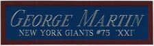 GEORGE MARTIN GIANTS NAMEPLATE AUTOGRAPHED Signed Football HELMET JERSEY PHOTO