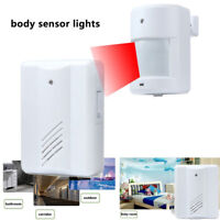 Wireless Battery PIR Infrared Motion Detector Sensor Home Alarm System Light