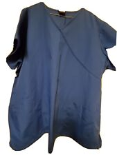 "Cherokee Workwear Scrub Top Size 2X-Royal Blue v-neck-Chest 28""/Length 30.5"""