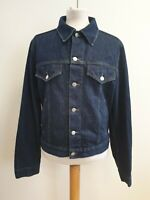 J446 MENS ARMANI JEANS BLUE COLLARED BUTTON FRONT FITTED DENIM JACKET UK L EU 52