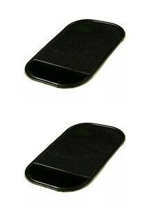 2pcs Anti-Slip Car Sticky Mat Non-Slip Pad GPS Phone Holder Black Auto