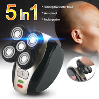 5in1 Men's Electric Shaver Rechargeable Cordless Skull Head Clipper Trimmer AU