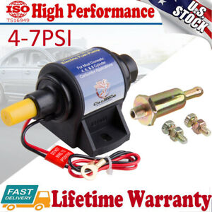 Electric Inline Fuel Pump 4-7PSI 32GPH Gas Gasoline w/Carburetor Mighty Mite US