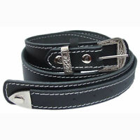 QHA Mens Full Grain Leather Belt Designer Buckle Casual Waist Q52005