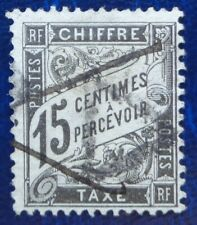 France oblitéré, taxe n°16, 15c noir type Duval, 1882