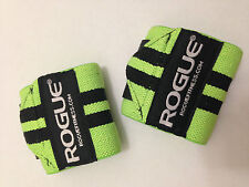 "Rogue Fitness Wrist Wraps, Medium 18"", Green, Power/Weight Lifting Crossfit WOD"