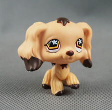 Littlest pet shop Figure Toy Brown cocker spaniel dogs puppy Star Eyes