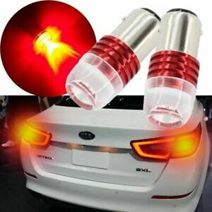 1157 BA15D Flashing Strobe Red LED Brake Light For Santa Fe Veloster Optimal etc