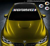 For BMW M PERFORMANCE Car VINYL STICKER Windscreen Windshield BANNER JDM DECAL