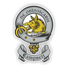 Clan Campbell Scottish Family Shield  Decal