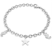 SECTOR Bracciale donna Love and Love SAGI12 acciaio anallergico pendenti stella
