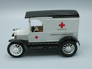 Ertl Replica Ford 1917 Model T Van American Ambulance Die-cast Bank *Read*
