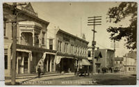 RPPC NY Weedsport Main St Stores Cayuga County 1900s Real Photo Postcard