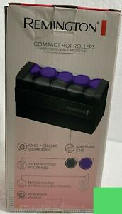 Remington Compact Travel 10 Hot Rollers Hair Curlers H1015 + Clips Tested Works
