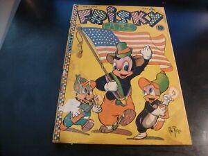 Frisky Fables Vol2 #4, 7/1946 Al Fago Patriotic Flag Cover G