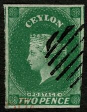 Ceylon 1857 SG3 2d Green Very Fine Used Cat. £65.00