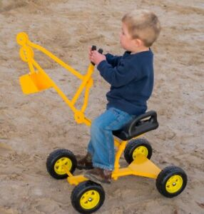 50% Off Heavy Duty Sand Digger Toy with Wheels with Minor Finish Blemishs Yellow