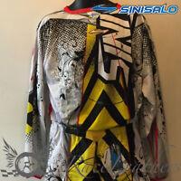 SINISALO BLUE WHITE MOTORBIKE MOTORCYCLE MX MOTO-X OFFROAD QUAD JERSEY TOP