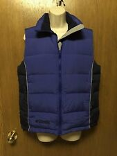 Women's COLUMBIA Blue DOWN & FEATHERS Quilted VEST Size S  Fall/winter NICE G7