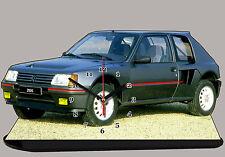 AUTO PEUGEOT 205 TURBO T16 -02, AUTO IN OROLOGIO MINIATURA
