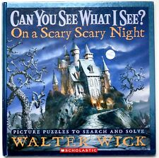 I spy book scary night can you see what I see Halloween gift kids puzzle game