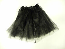 TUTU BLACK LADIES NET HALLOWEEN HEN PARTY FANCY DRESS UP TO SIZE 18 SATIN BAND